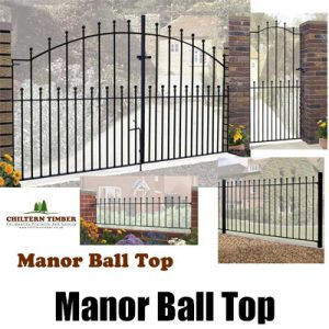 Manor Ball Top Metal Gates & Railings