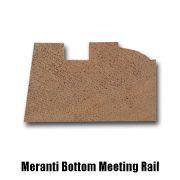 meranti bottom meeting rail end profile