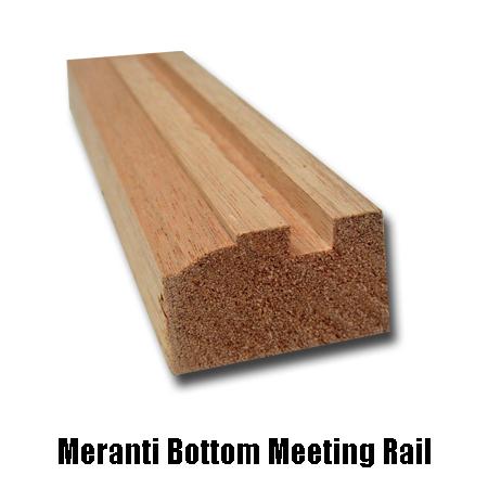 meranti bottom meeting rail
