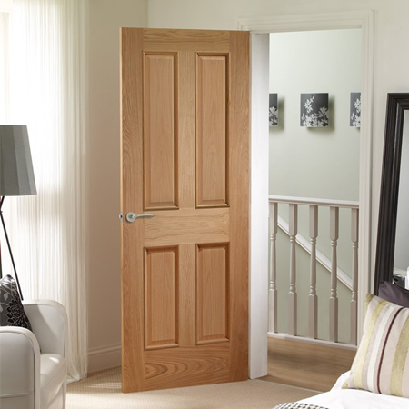 Internal Door Oak Victorian 4 Panel Raised Mouldings Chiltern Timber