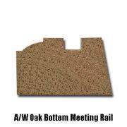 oak bottom meeting rail end profile