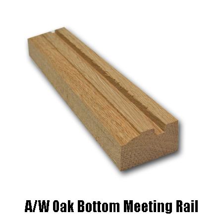 oak bottom meeting rail