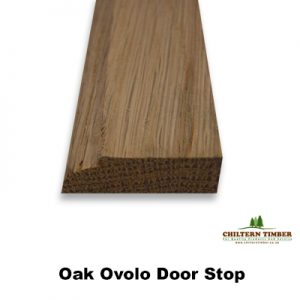 oak ovolo door stop