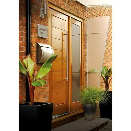 External Door Oak Dowelled Pattern 10 Side Light With