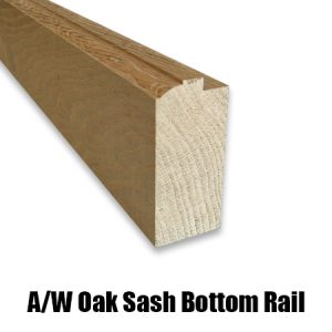 oak sash bottom rail