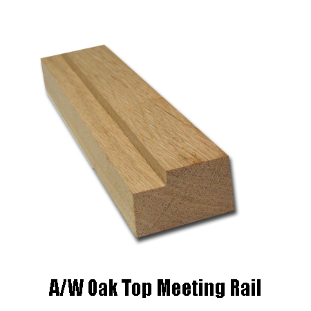 oak top meeting rail
