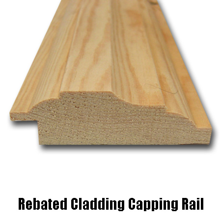 rebated cladding capping rail side profile