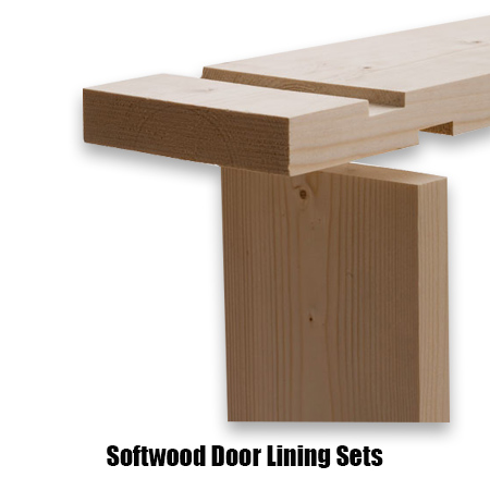Softwood door lining