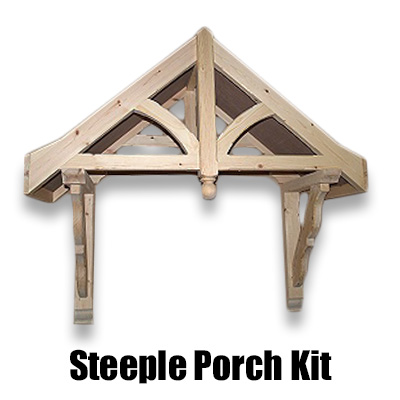 Porch kit steeple canopy 1090mm chiltern timber for Front porch kits for sale