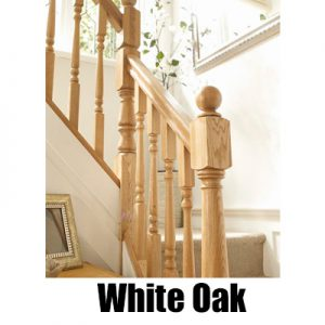 Richard Burbidge Trademark White Oak Stairparts