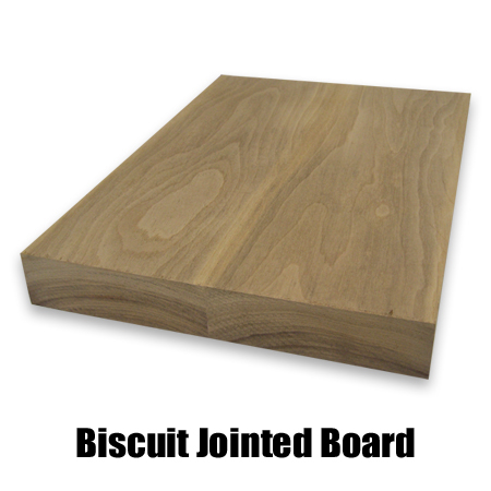 walnut biscuit jointed