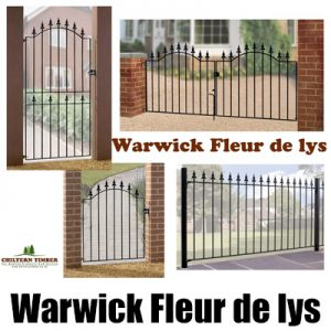 Warwick Fleur-de-Lys Metal Gates, Fence Panel & Railings
