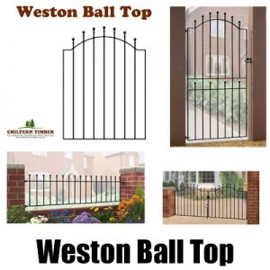Weston Ball Top Metal Gates, Fence Panel & Railings