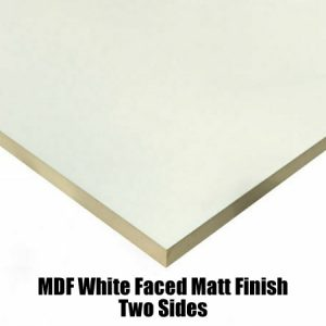 white faced mdf