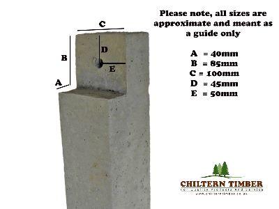 Decking Concrete Deck Post 100 X 100mm Chiltern Timber
