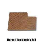 meranti top meeting rail end profile