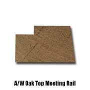 oak top meeting rail end profile